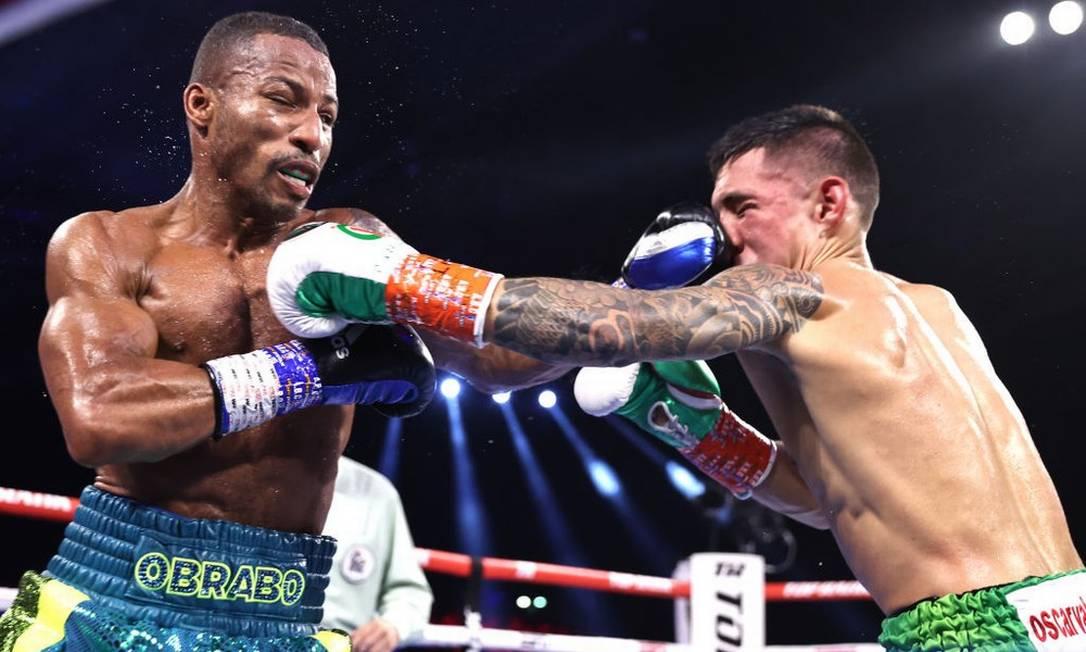 Robson Conceição x Oscar Valdez cinturão dos superpenas do boxe Foto: AFP