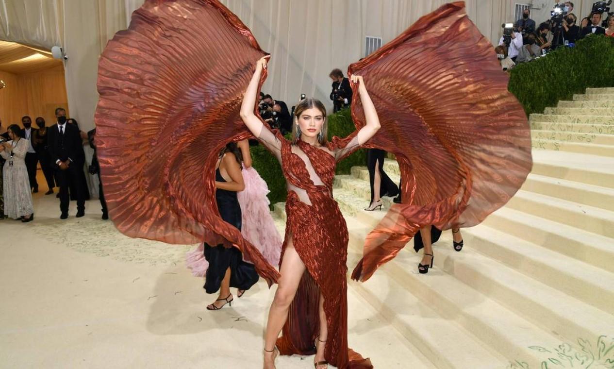 Atriz e modelo brasileira Valentina Sampaio Foto: ANGELA WEISS / AFP