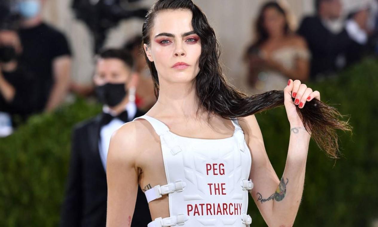 Modelo inglesa Cara Delevingne Foto: ANGELA WEISS / AFP