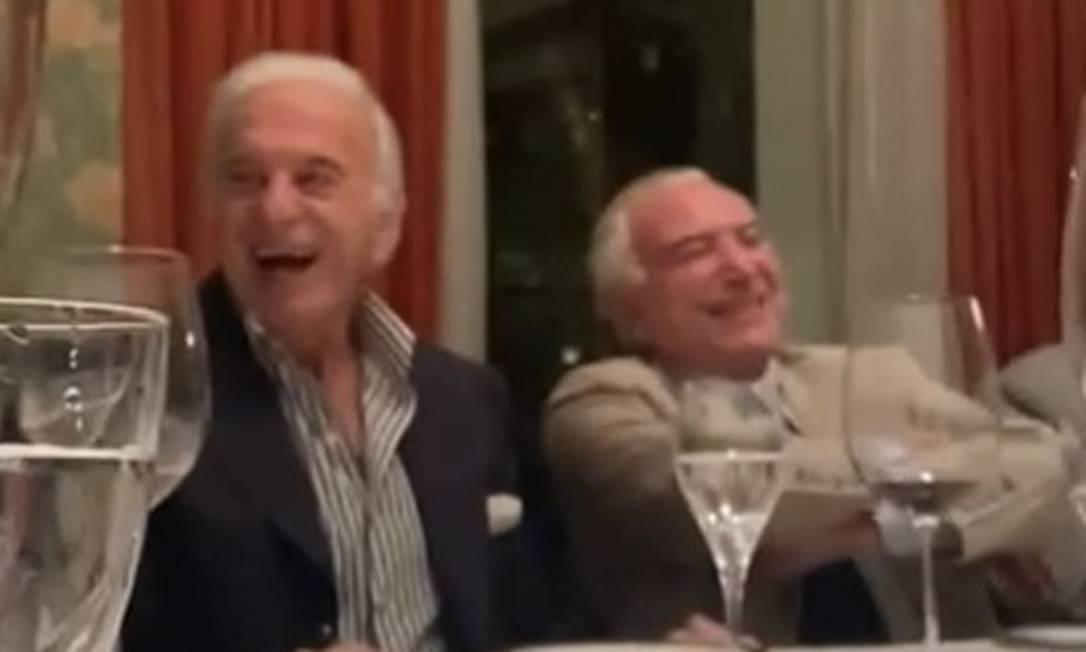 Temer ri de imitação de Bolsonaro Foto: Reprodução