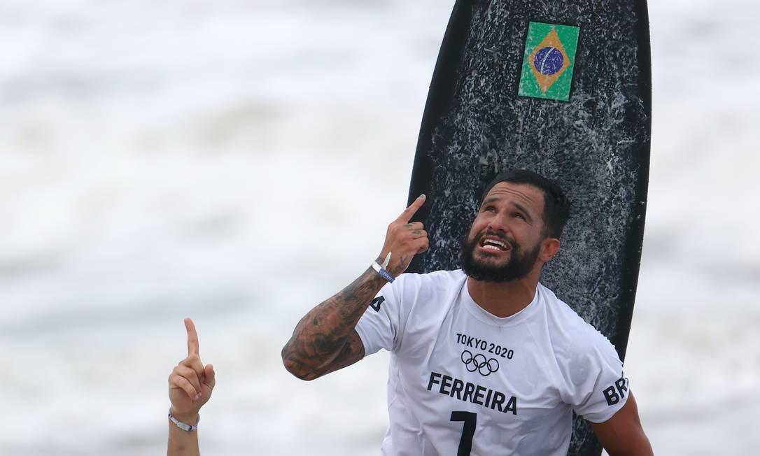 Medalhista de ouro nos Jogos de Tóquio, Italo Ferreira é número 2 do ranking mundial Foto: LISI NIESNER / Reuters