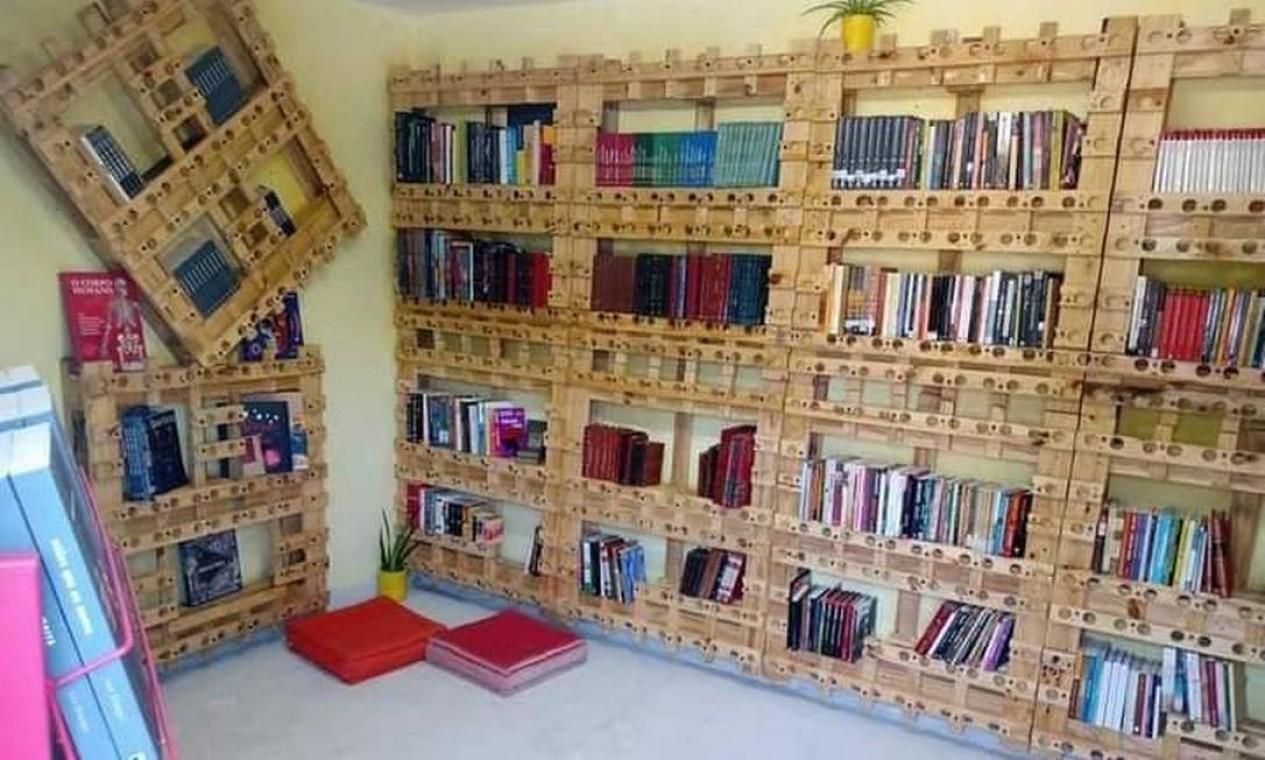 Biblioteca Luis Erlanger, na Vila Kennedy Foto: Favelivro / Divulgação