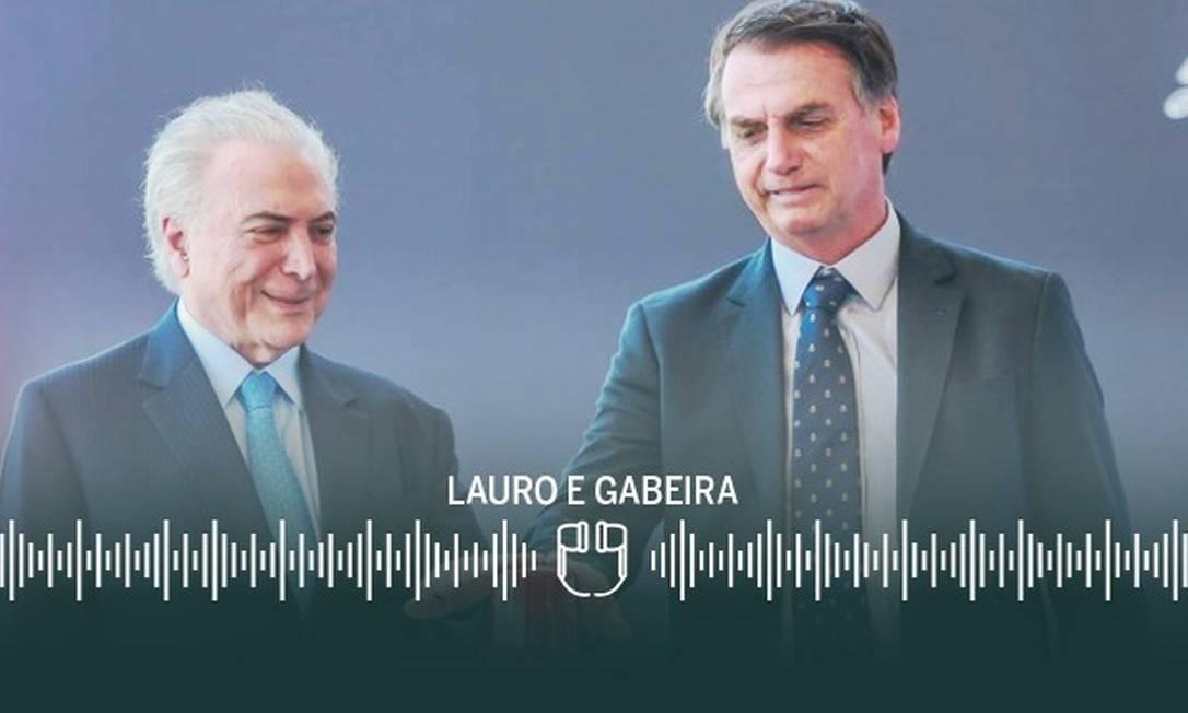 Michel Temer e Bolsonaro: carta-recuo foi orientada pelo ex-presidente Foto: Arte