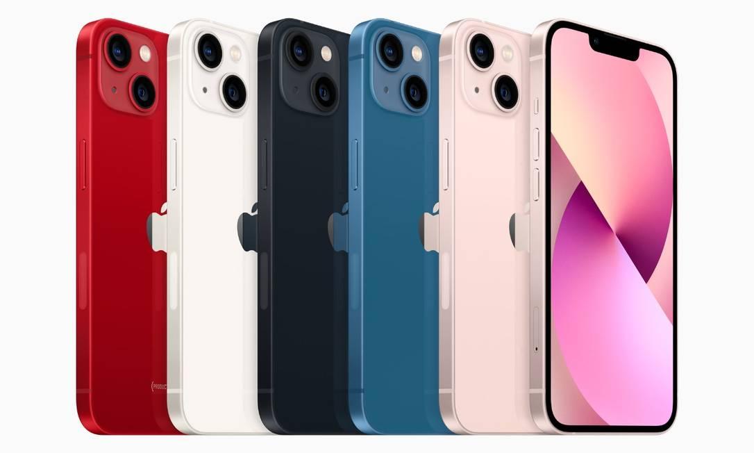 Apple lança nos modelos do iPhone com novas cores Foto: Divulgação