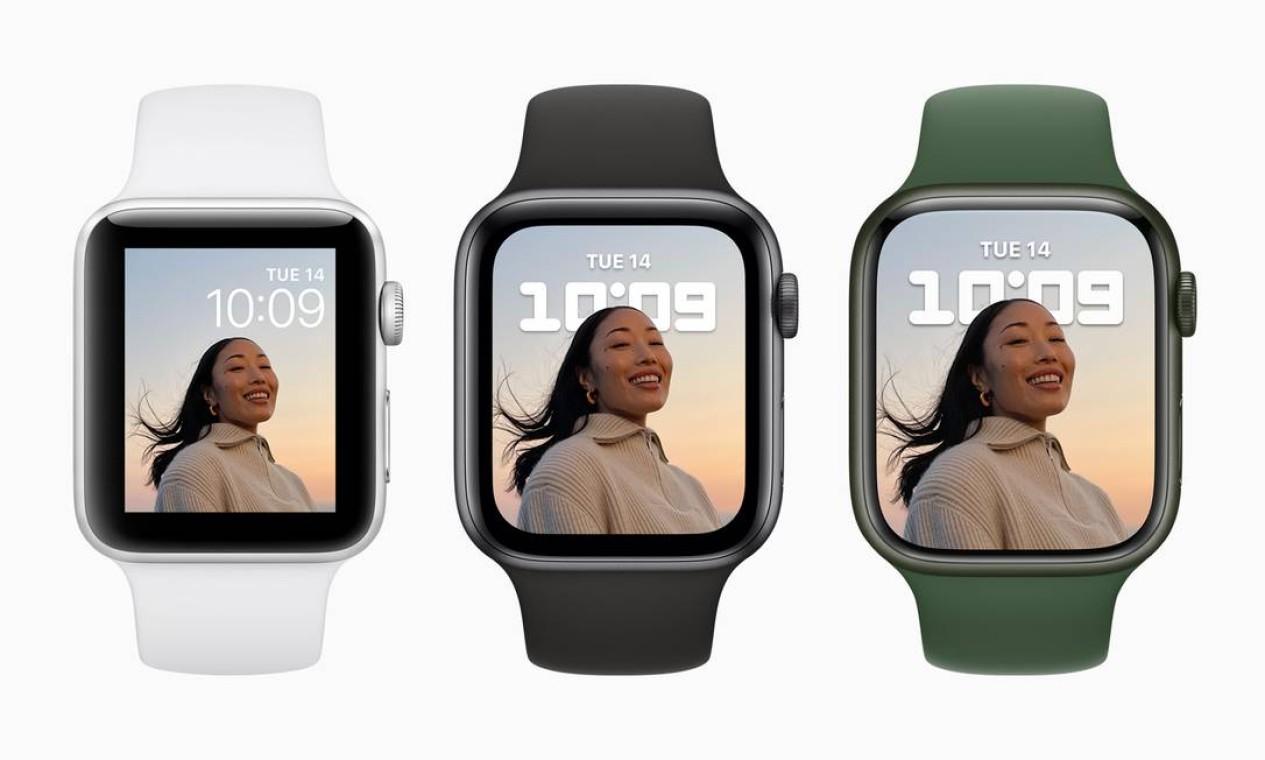 Apple lança nova versão de seu relógio com bordas menores Foto: Divulgação