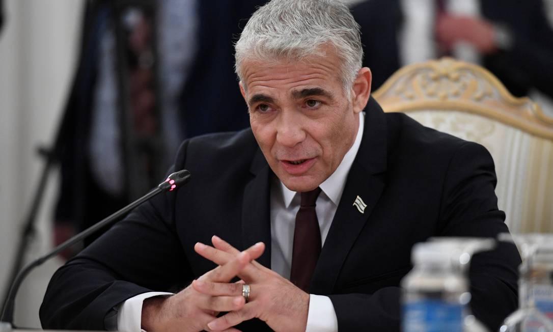 Ministro de Relações Exteriores de Israel, Yair Lapid Foto: POOL / via REUTERS