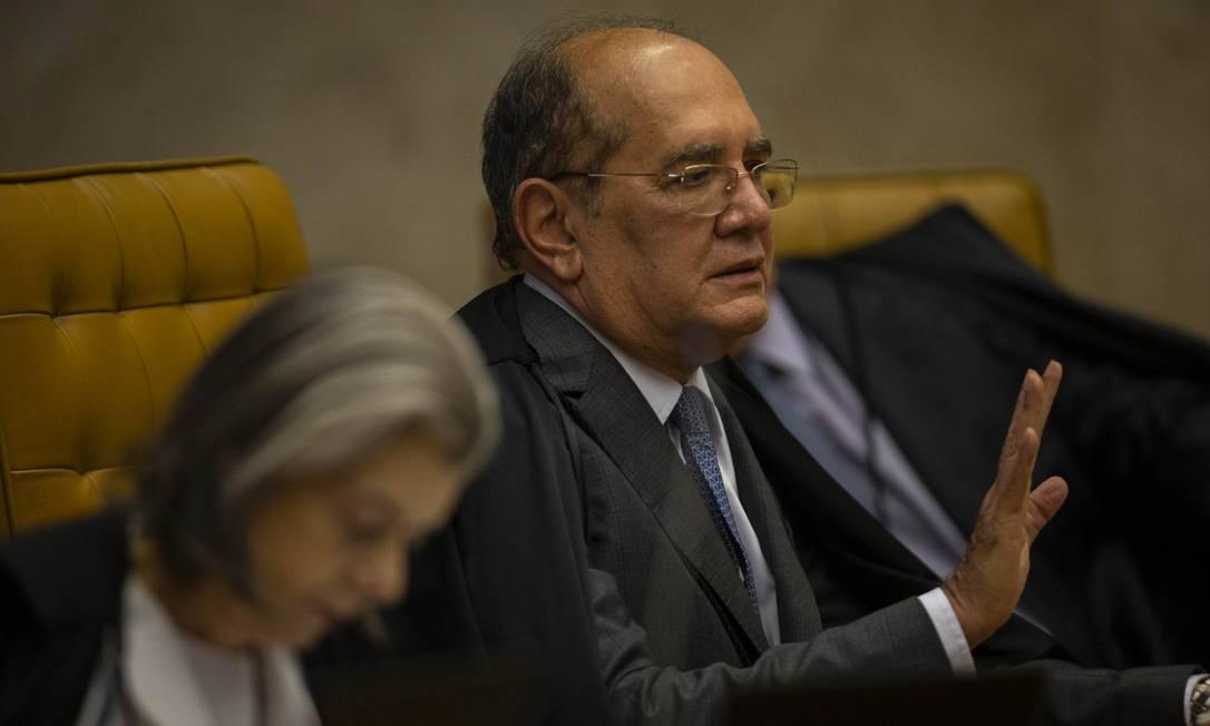 Gilmar Mendes aparece como ministro que mais concedeu habeas corpus no período entre 2018 e 2019 Foto: Daniel Marenco / Agência O Globo