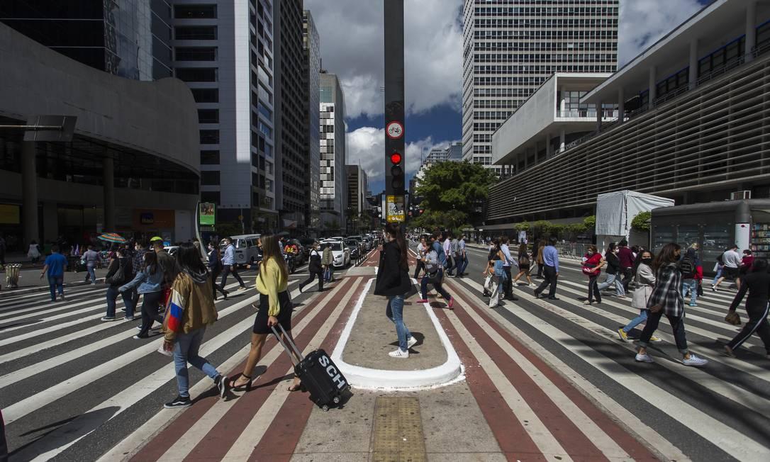 Na foto, Avenida Paulista, em São Paulo, após fim das restrições em agosto Foto: Edilson Dantas / Agência O Globo