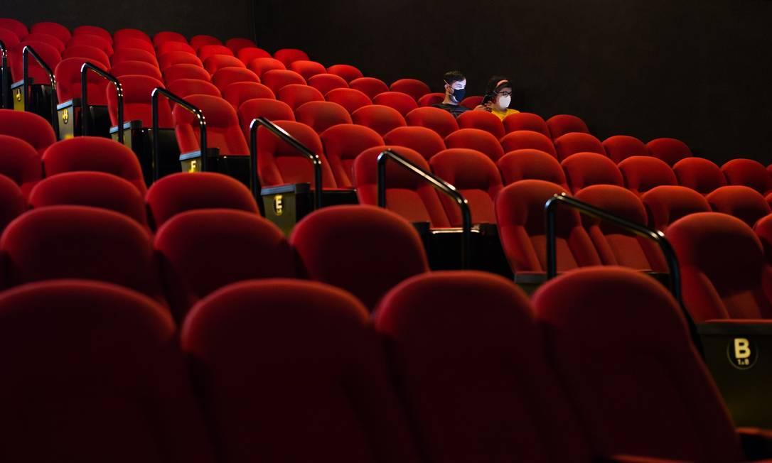 Cinemas encontram dificuldades para atrair público na pandemia Foto: Edilson Dantas / Agência O Globo