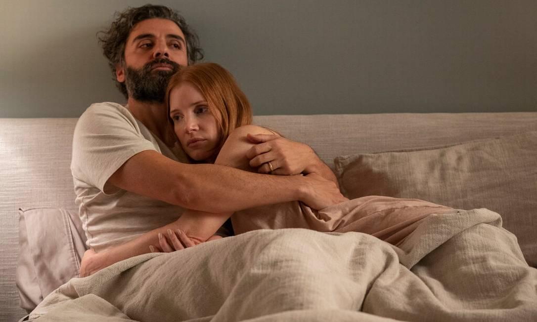 Oscar Isaac e Jessica Chastain no remake da HBO para 'Cenas de um Casamento', de Ingmar Bergman Foto: Divulgação/HBO