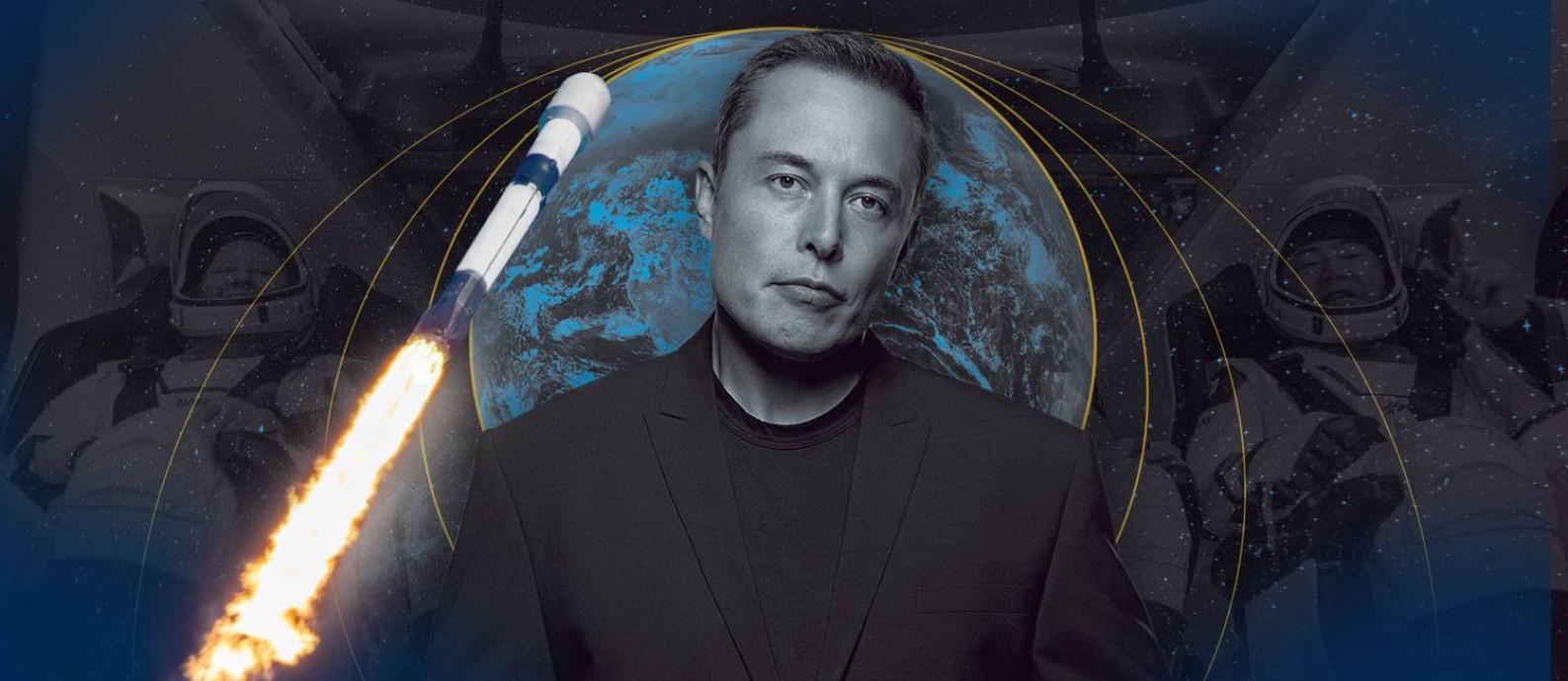 O bilionário sul-africano Elon Musk, fundador da Tesla e da SpaceX Foto: Editoria de Arte