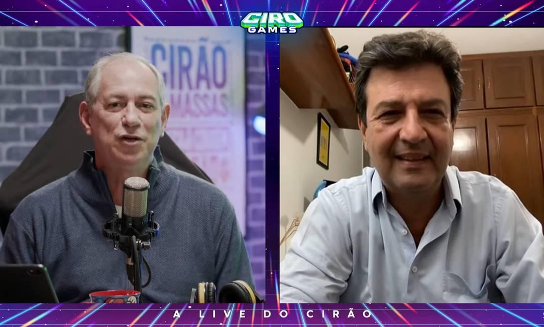 Mandetta participa de live com Ciro Gomes Foto: Picasa / Agência O Globo