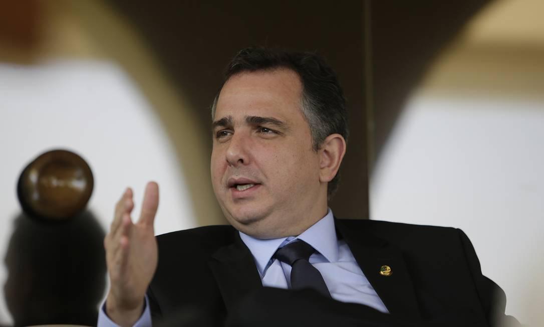 Rodrigo Pacheco, presidente do Senado Federal. Foto: Cristiano Mariz / Agência O Globo
