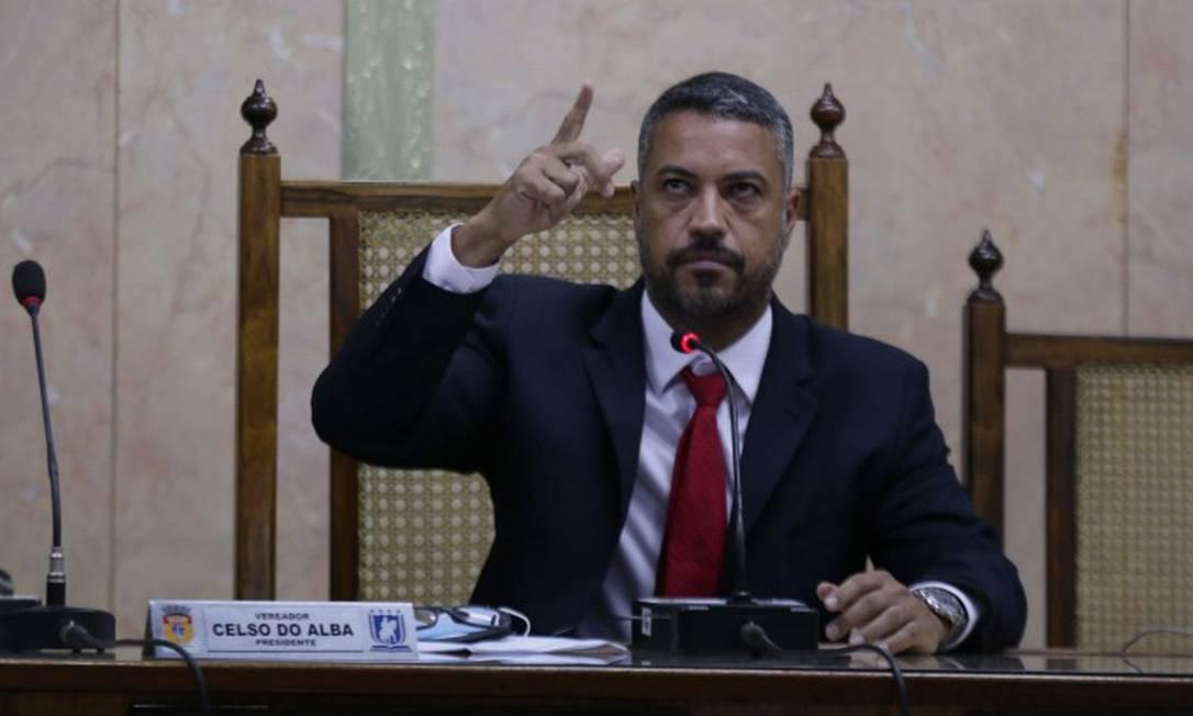 O presidente da Câmara Municipal de Duque de Caxias, Celso do Alba Foto: Cléber Júnior / Agência O Globo