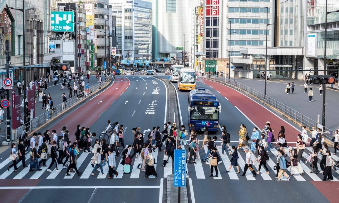 Japão tem 86,5 mil pessoas com mais de cem anos, um novo recorde Foto: CHARLY TRIBALLEAU / AFP