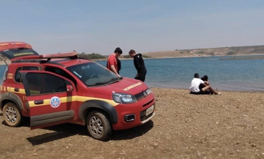 Uma das equipes do Corpo de Bombeiros que foi mobilizada para casos de afogamento Foto: Bombeiros de Paracatu / Reprodução