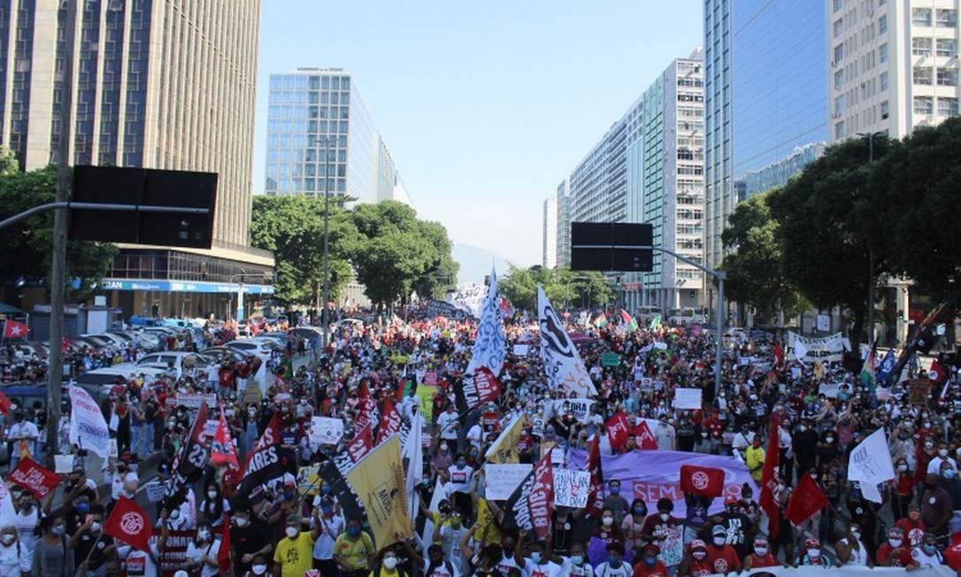 Manifestação no Rio de Janeiro Foto: Joao Gabriel Alves / Agência O Globo