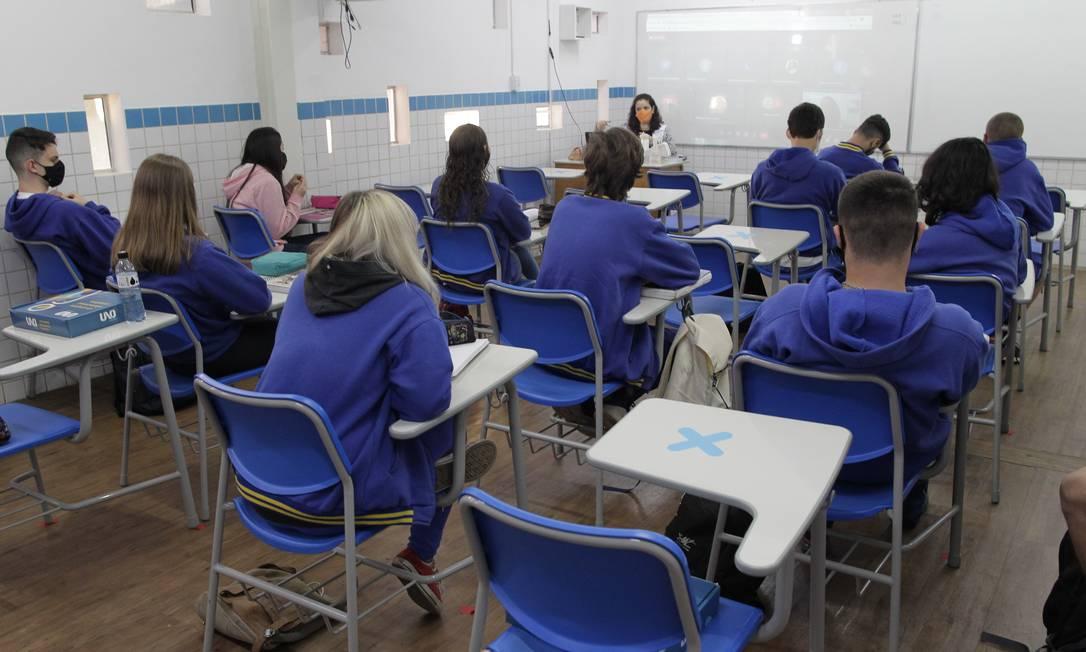 Escola particular em Campinas (SP) Foto: Leandro Ferreira/Fotoarena/Agência O Globo