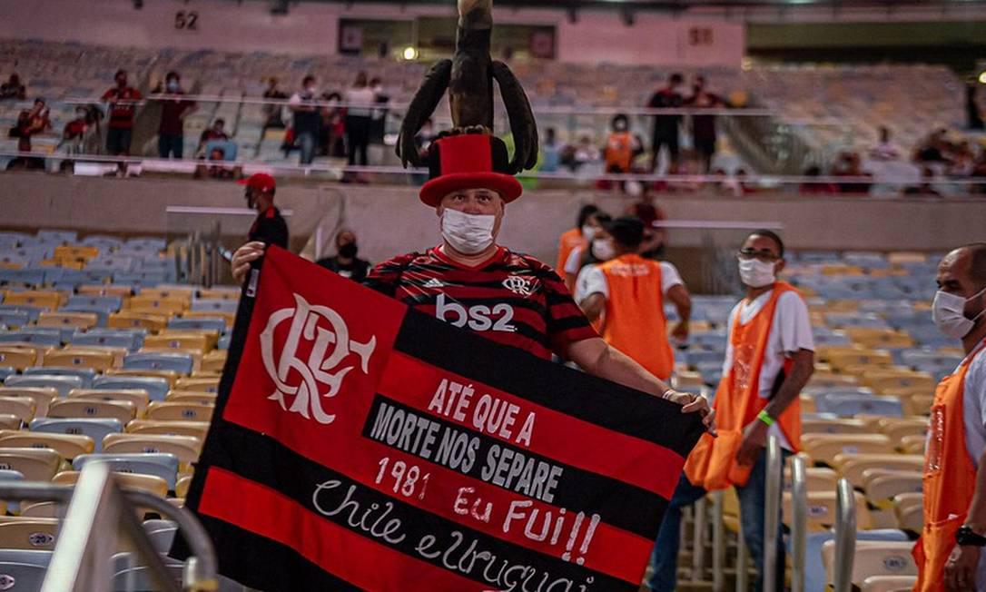 Torcedor no retorno do público ao Maracanã Foto: Divulgação Flamengo