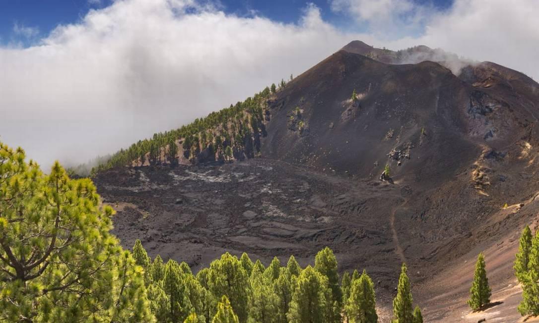 O vulcão Cumbre Vieja, nas Ilhas Canárias Foto: Divulgação