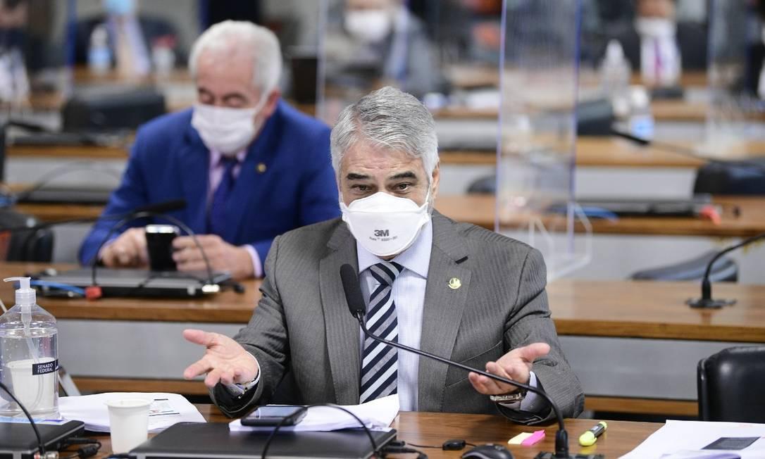 Humberto Costa durante sessão da CPI da Covid Foto: Agência Senado