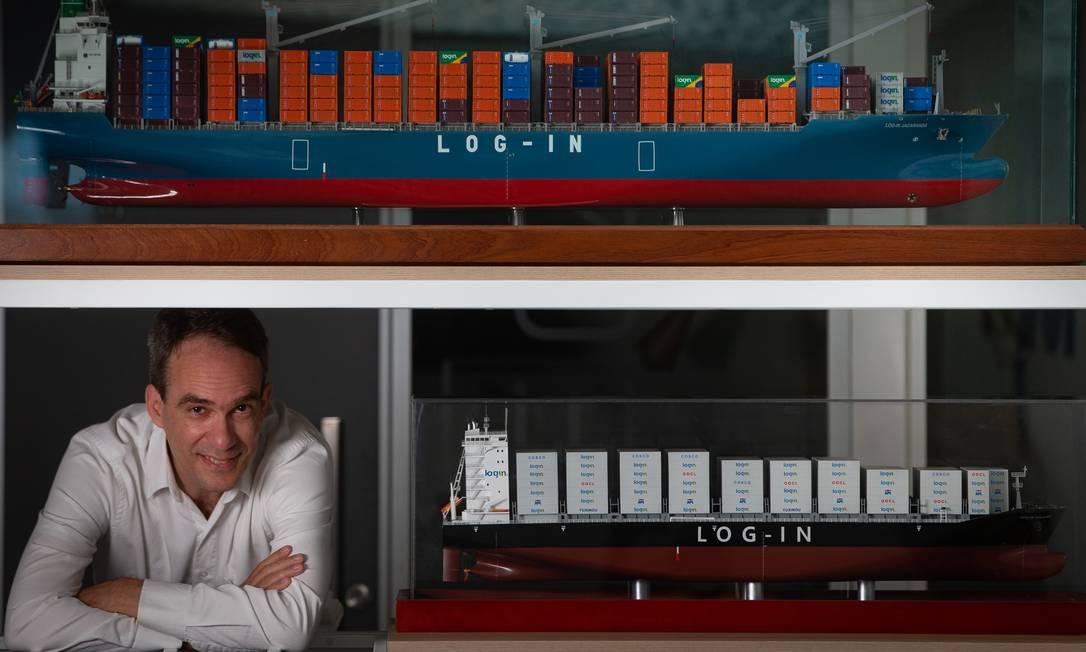 Marcio Arany, CEO da Login, companhia de navegação que atua no segmento de carga marítima: aumento de volume transportado durante a pandemia Foto: Roberto Moreyra