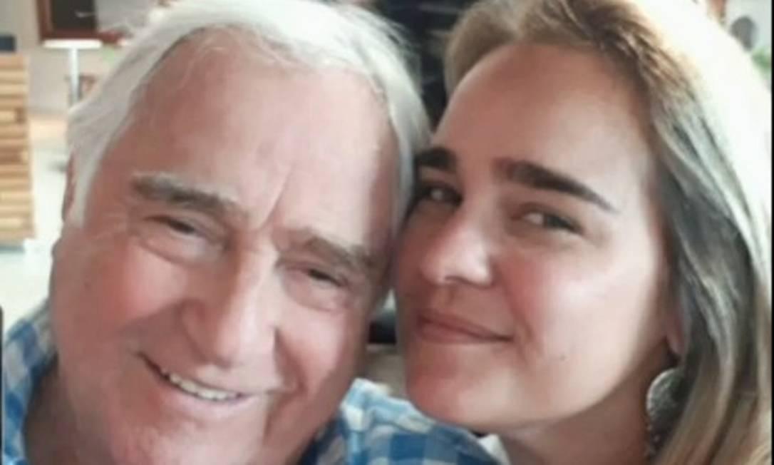O ator Luis Gustavo e sua filha Jéssica Vignolli Foto: Reprodução