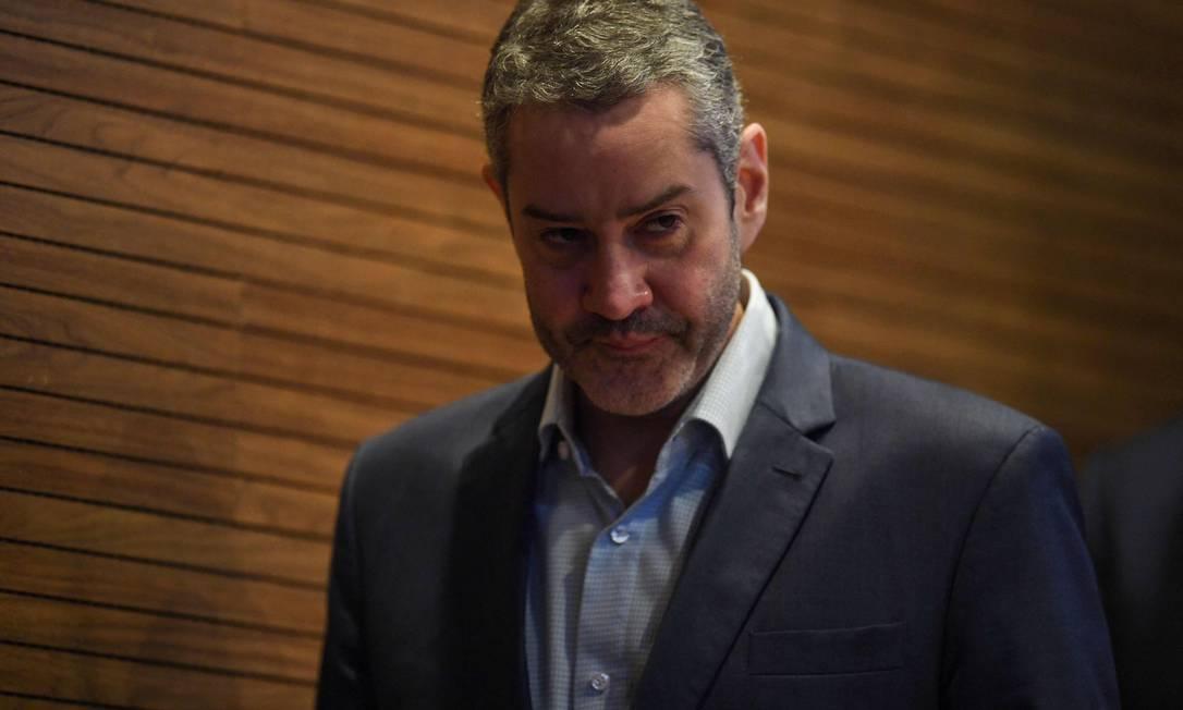 Rogério Caboclo aguarda assembleia geral da CBF que pode confirmar seu afastamento da presidência Foto: Mauro Pimentel/AFP