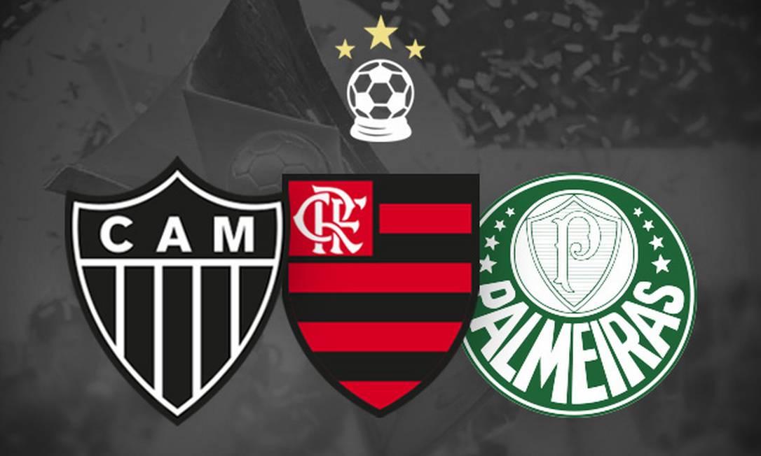 Atlético-MG chega a 78% de chances de título brasileiro Foto: Editoria de Arte