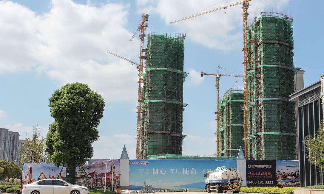 Evergrande Cultural Tourism City, um empreendimento de uso misto, em Taicang, cidade de Suzhou Foto: JESSICA YANG / AFP