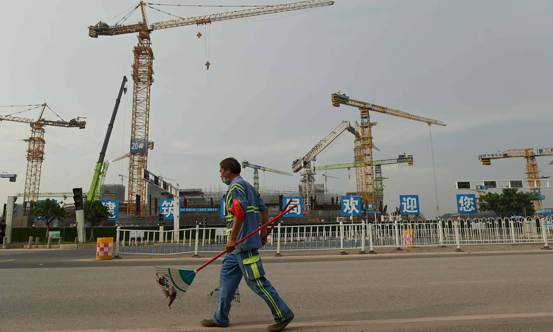 Eestádio de futebol Guangzhou Evergrande, em construção, na província de Guangdong, no sul da China. Foto: NOEL CELIS / AFP
