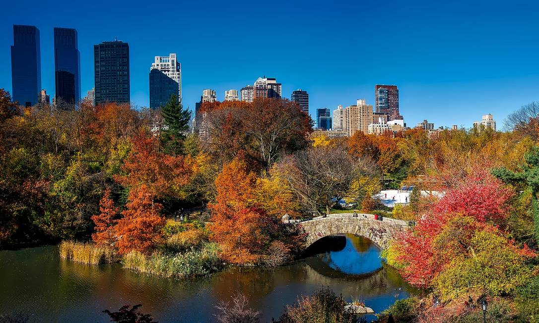 Vista do Central Park, em Nova York, durante o outono Foto: Pixabay / Reprodução