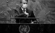 Bolsonaro na ONU Foto: AFP