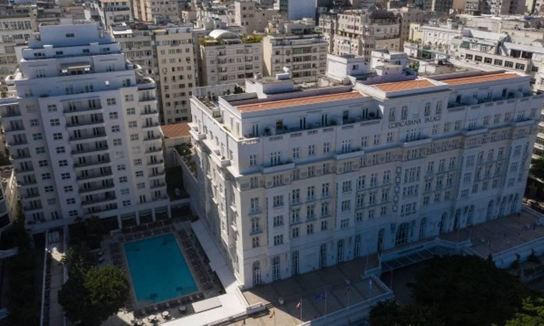 Vista aérea do Copacabana Palace Foto: Brenno Carvalho / Agência O Globo