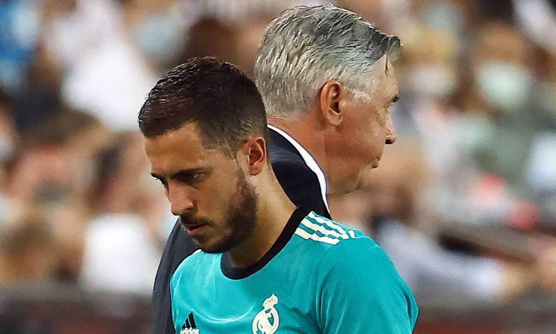 10º - EdenHazard, do Real Madrid; 29 milhõesde dólares - R$ 153,2 milhões Foto: JOSE JORDAN / AFP