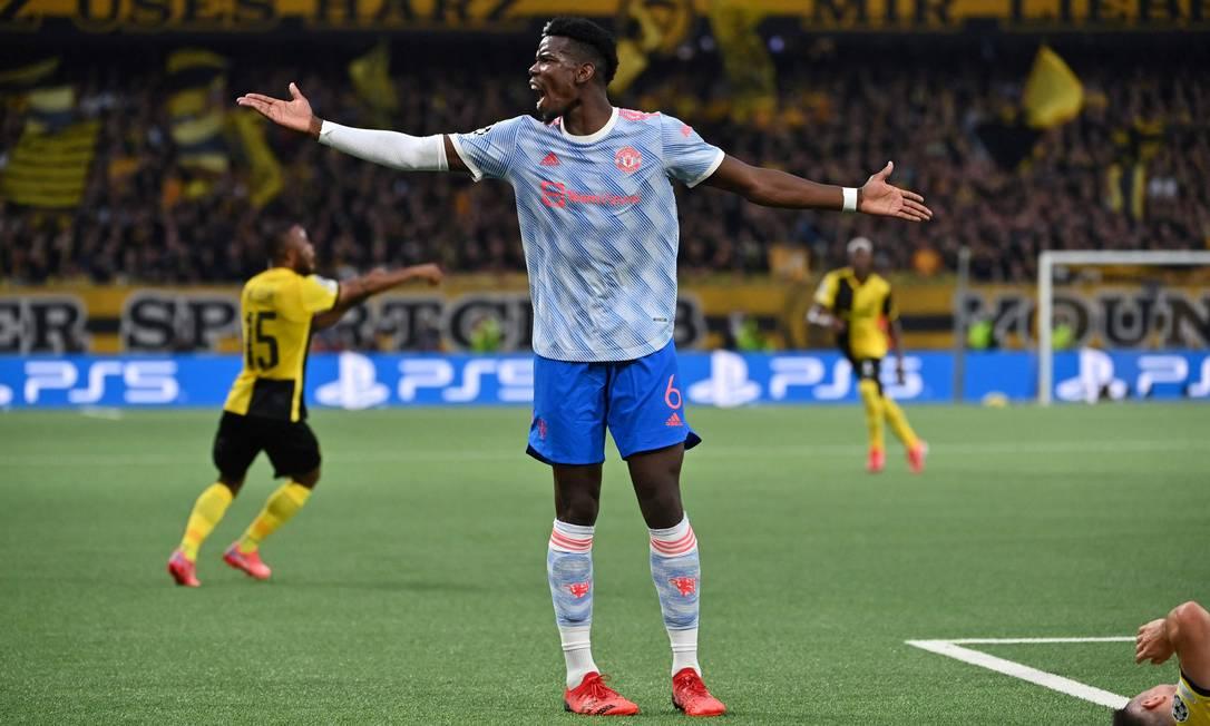 8º - PaulPogba, do Manchester United; 34 milhõesde dólares - R$ 179,6 milhões Foto: FABRICE COFFRINI / AFP