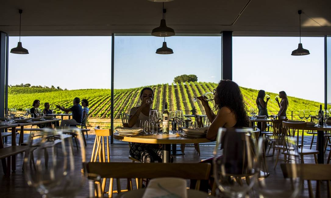 Prova de Vinhos na Quinta do Quetzal, no Alentejo, uma das regiões vinicultoras mais tradicionais de Portugal Foto: Gonçalo Villaverde / Divulgação