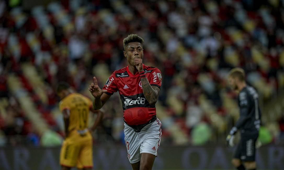 Bruno Henrique marcou os dois gols da vitória rubro-negra Foto: Marcelo Cortes / Flamengo