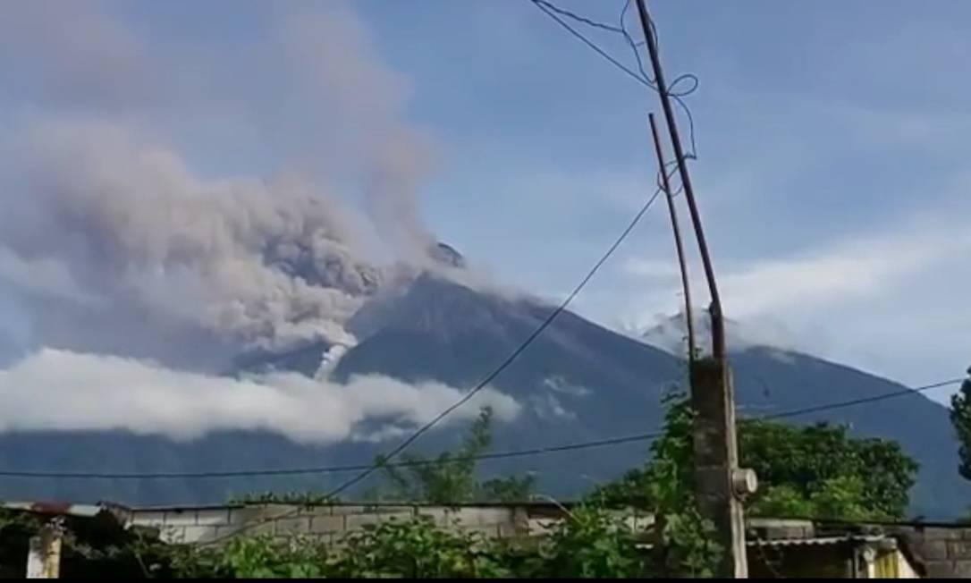 Vulcão Fuego entra em erupção na Guatemala Foto: Reprodução