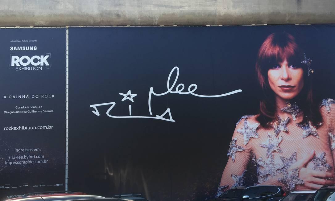 Fachada da exposição de Rita Lee no MIS, em São Paulo Foto: Luccas Oliveira