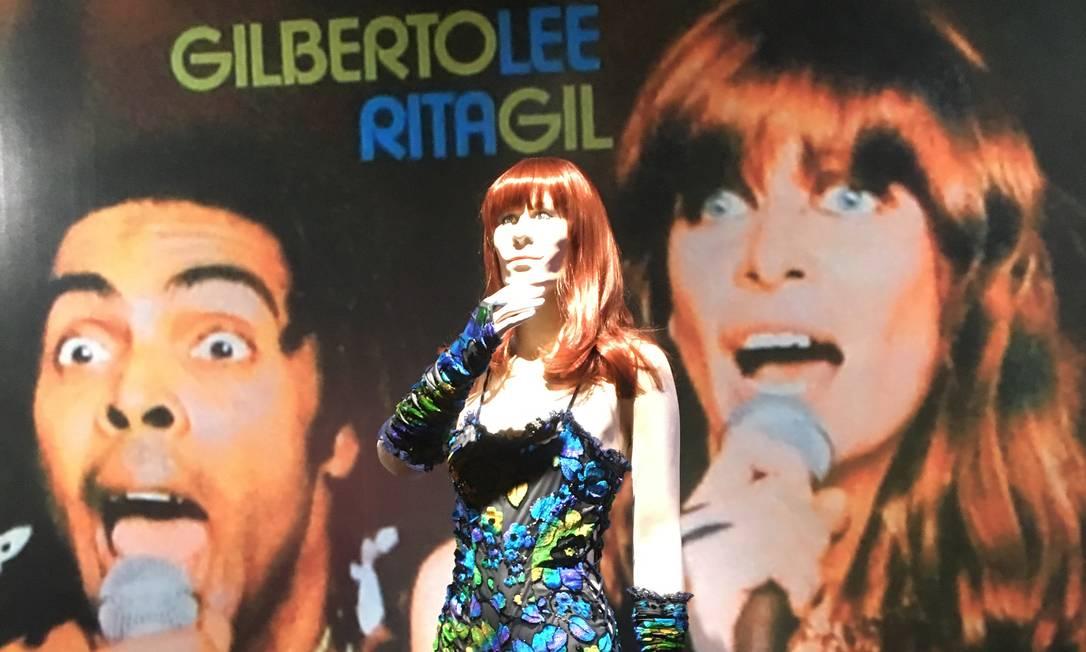 Figurino da turnê 'Refestança', com Gilberto Gil, foi costurado pela mãe de Rita Foto: Luccas Oliveira
