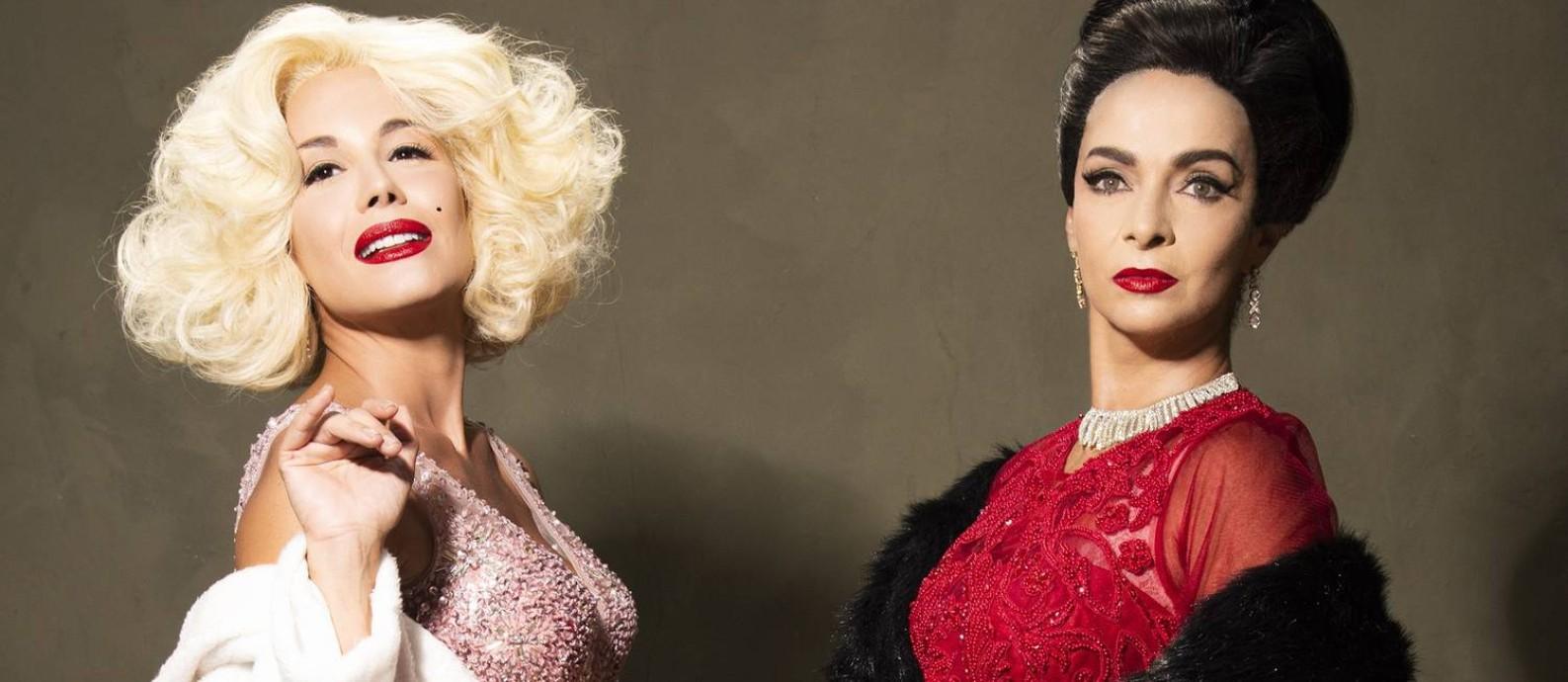 Juliana Knust e Claudia Ohana são Marilyn Monroe e Maria Callas em 'Parabéns Mr. President' Foto: Pino Gomes / Divulgação