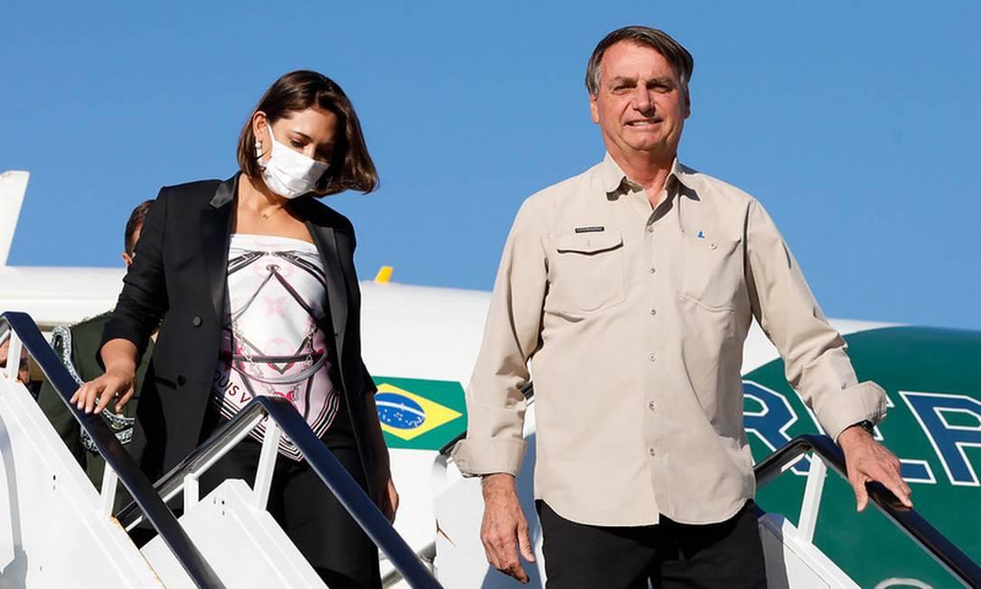 Bolsonaro e Michelle desembarcam em Nova York 19/09/2021 Foto: Alan Santos / Divulgação