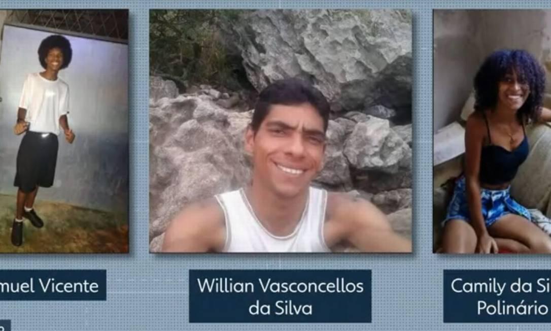 Samuel e Willian morreram, enquanto Camily está internada aguardando cirurgia Foto: Reprodução/TV Globo