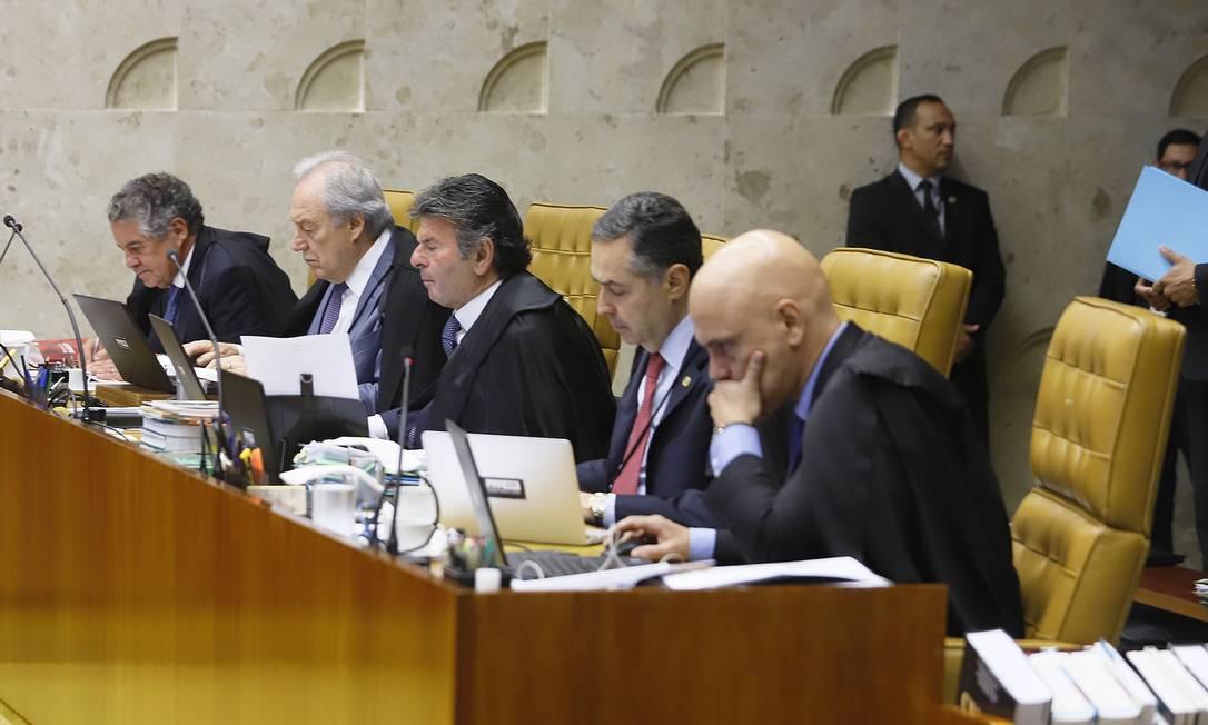 Plenário do STF ainda com Marco Aurélio Mello: impasse por vaga no STF eleva irritação de ministros Foto: Rosinei Coutinho / STF