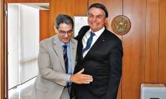 Presidente Roberto Jefferson se encontrou com o presidente Jair Bolsonaro, no Palácio do Planalto Foto: Reprodução / Facebook / PTB