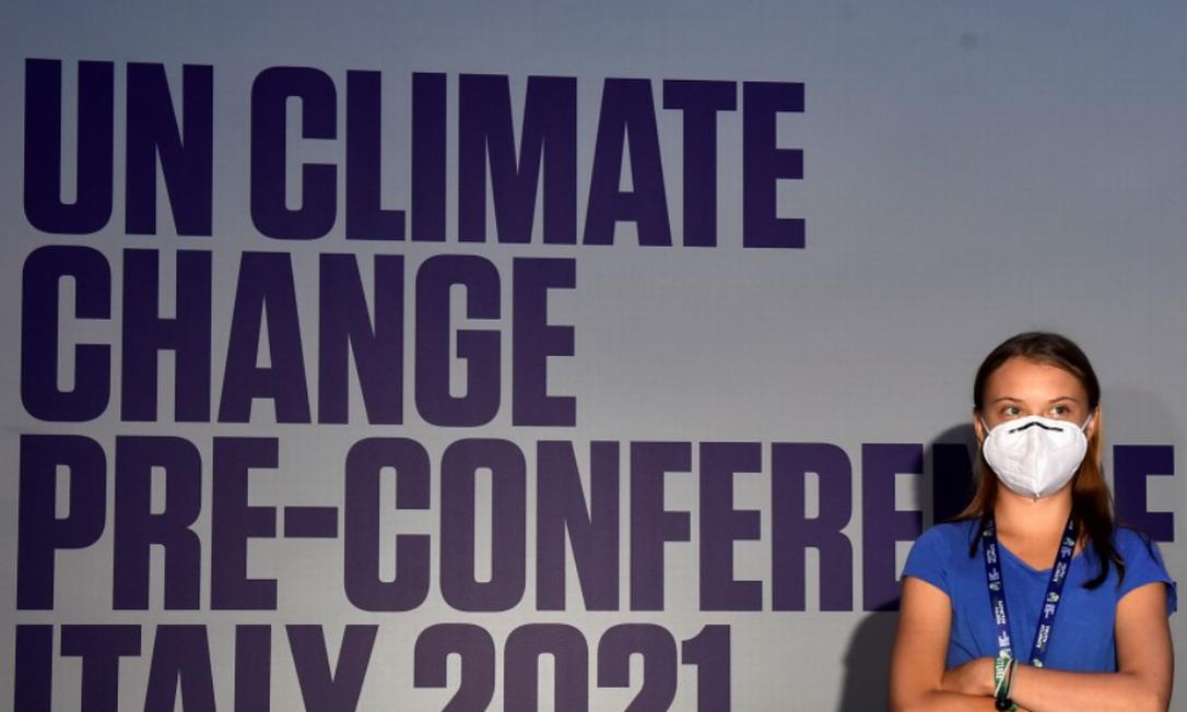 Greta Thunberg durante evento sobre o clima em Milão, na Itália Foto: Flavio Lo Scalzo / REUTERS