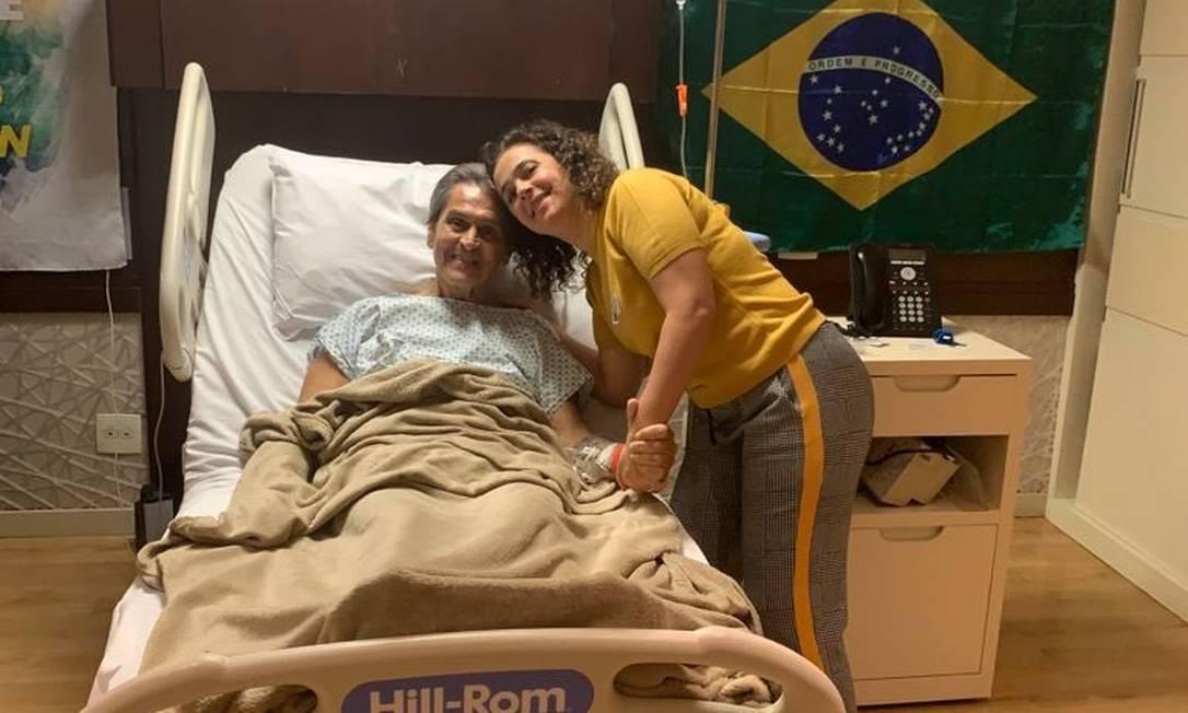 Roberto Jefferson passou por procedimento cirúrgico no hospital Foto: Reprodução
