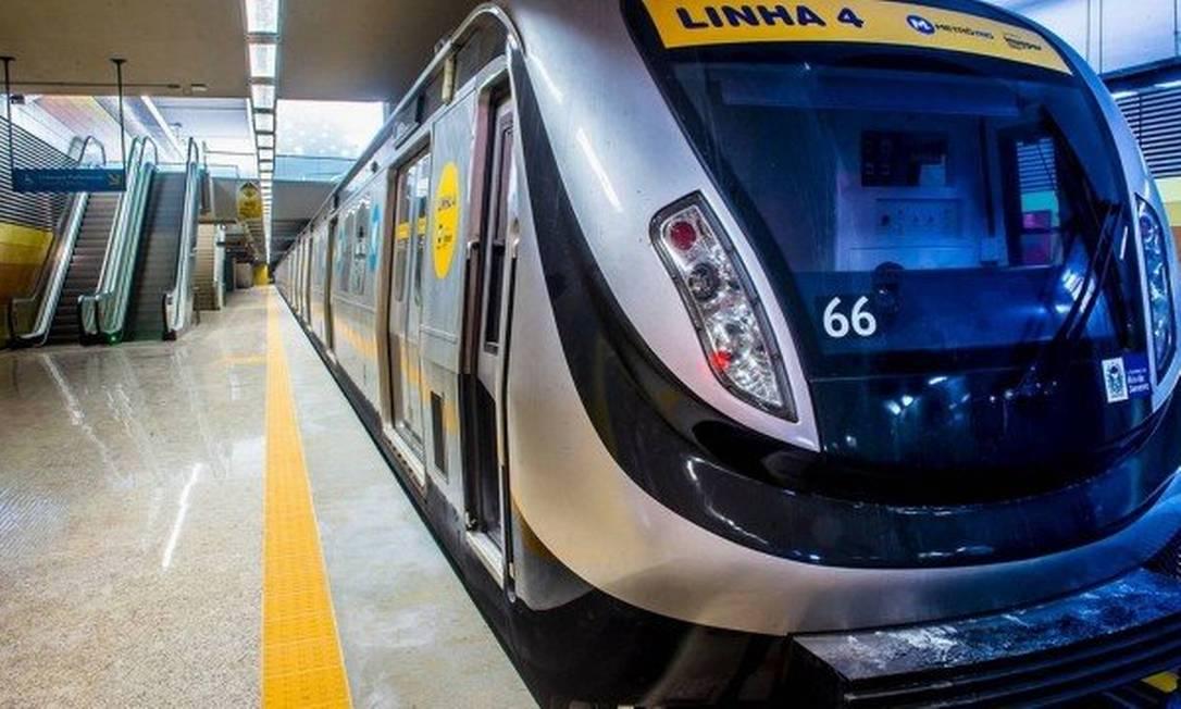 Carro do Metrô Rio / Linha 4 Foto: Agência O Globo