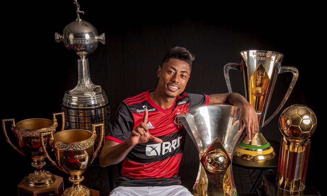 Bruno Henrique é um dos principais nome do clube que busca o tri da Libertadores contra o Palmeiras Foto: Alexandre Vidal / Agência O Globo